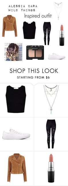 """""""A Alessia Cara inspired outfit"""" by coolpineapple-765 ❤ liked on Polyvore featuring Converse, WithChic, Oasis, MAC Cosmetics, NARS Cosmetics, wildthings and alessiacara"""
