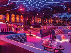 Our Neighborhood Guide to the Best Nightlife in Miami Lounge Design, Cafe Design, Lounge Club, Bar Lounge, Bar Interior, Restaurant Interior Design, Concert Stage Design, Nightclub Design, Jazz Bar