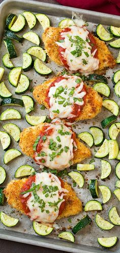 I would definitely make this again! The chicken was very moist! One Pan Chicken Parmesan and Roasted Zucchini