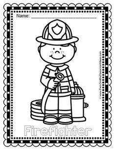 Free Community Helpers Tracing and Coloring Pages ...