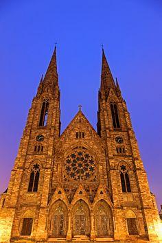 France, Alsace, Strasbourg, St Pauls church