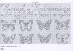 Point de croix*m@* Cross stitch Papillons 2