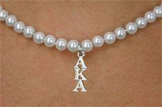 Alpha Kappa Alpha pearl necklace