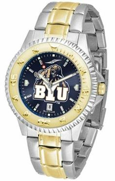 Brigham Young Cougars BYU NCAA Mens Two-Tone Anochrome Watch SunTime. $93.95. AnoChrome Dial Enhances Team Logo And Overall Look. Links Make Watch Adjustable. Men. Officially Licensed Brigham Young Cougars Men's Stainless Steel and Gold Tone Watch. Two-Tone Stainless Steel