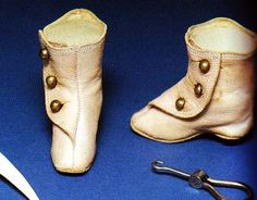 french fashion doll antique boots