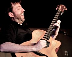 Jon Gomm. With Wilma, his Lowden Guitar.