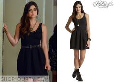 Aria Montgomery (Lucy Hale) wears this studded flared dress in this upcoming episode of Pretty Little Liars. It is the Aeropostale Pretty Little Liars Aria Studded Ponte Dress. Buy it HERE for $69.50 All Outfits from Pretty Little Liars Other … Continue reading →