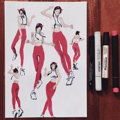 warming up  sketches of @ecruz_n  Диана рисует всех кто в ушах  #WEDNESDAYofSketching by life_is_mmm