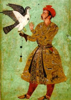 A Mughal Prince with a Falcon