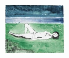 Peter Doig - Untitled, 2011, watercolour monotype print.