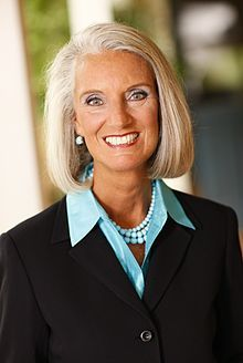 Anne Graham Lotz, (Billy Grahams daughter) age 64 super active  in ministry around the world.