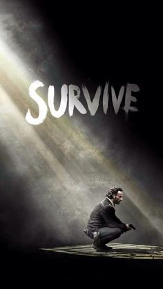 """The Walking Dead Season Rick Grimes' Heavenly """"Survive"""" Poster — Hints of What's to Come: Walking Dead Saison 7, Art Walking Dead, The Walking Dead Poster, Walking Dead T Shirts, The Walk Dead, Walking Dead Quotes, Walking Dead Season, Walking Dead Wallpaper, Rick Grimes"""