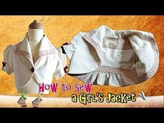 Jacket for Girls - How to - Easy sewing Pattern