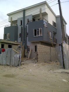 4 bedroom semi detached house with bq at Ikota Villa Estate, Lekki  #realestate #property #house #forsale #Lekki #Lagos #Nigeria
