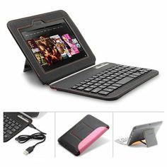 Wireless Bluetooth Keyboard Case for Amazon Kindle Fire HD 7 (1st Gen, 2012) 1 of 6