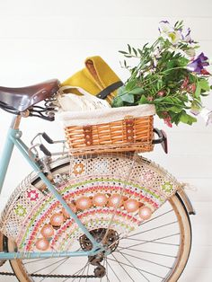 """simply-divine-creation: """"Crochet skirt guard for your vintage bicycle » Mollie Makes """""""