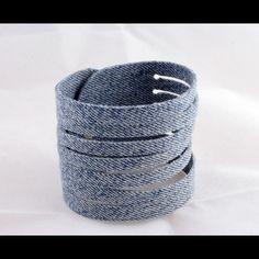 Denim upcycled cuff