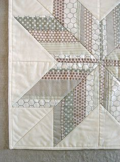 love these colors!!!  Mini Quilt of the Month from Purl Bee: Striped Star