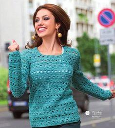 Модный летний джемпер для женщин (Вязание крючком) — Журнал Вдохновение Рукодельницы