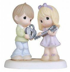 Precious Moments You Hold The Key To My Heart  (NEW)   #109022 Disney Precious Moments, Precious Moments Figurines, Collectible Figurines, Biscuit, Key To My Heart, My Precious, Wedding Anniversary Gifts, Collections, Unique Gifts