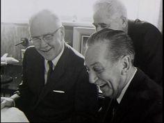 Walt Disney and Ub Iwerks... a long time Disney friend and collaborator.