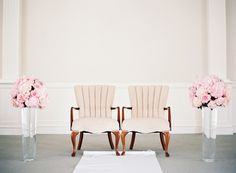 ceremony seating - photo by Lauren Gabrielle Photography http://ruffledblog.com/pennsylvania-wedding-with-soft-purples