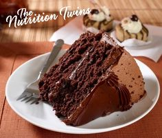 Healthy Chocolate Cake | Rich & Chocolatey | Decadent | Guilt-free | Only 168 Calories | Made with @egglandsbest .client | For MORE RECIPES, fitness & nutrition tips please SIGN UP for our FREE NEWSLETTER www.NutritionTwins.com