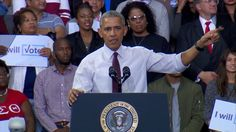 Obama Shouts Over Crowd To Defend Trump Supporter At Rally http://youtu.be/N37wJpjM6w8
