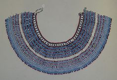 The Xhosa of the Eastern Cape, South Africa wore beaded collars like this