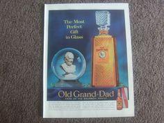 Vintage Kentucky Bourbon Whiskey ad OLD GRAND - DAD Life magazine advertisement