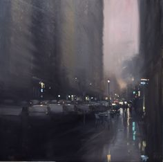 Focused on the city of Adelaide, located in South Australia, Mike Barr creates evocative rainy-day cityscapes.
