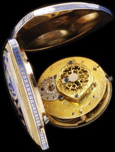 An enamelled gold watch signed 'Moise Constantin', Geneva, ca.1790