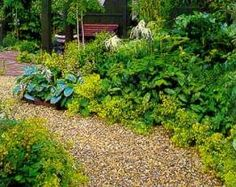 I really like the natural look of a pea gravel path