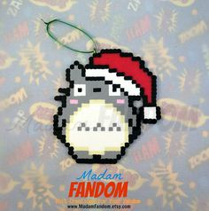 Totoro Christmas Ornament perler beads by MadamFANDOM