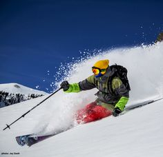 Ski Green! The Snowcat Skiing for Nature program at Snowbird is a guided opportunity for expert skiers to explore avalanche terrain at Snowbird resort in Utah. Proceeds from the program help support National Forest  campaigns #accumulation #PinUpLive