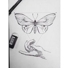 tattoo butterfly geometric - Recherche Google