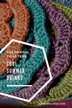 These pretty doily style, crocheted coasters are a one off make, coming in a set of 6 bright, summery colours. Perfect for outdoor living, or brighten up your coffee table in the lounge. #BBQ #garden party #outdoor #living #coasters #crochet #housewarming