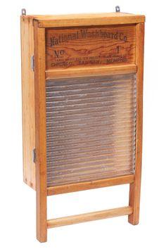 Vintage Washboard Cabinet