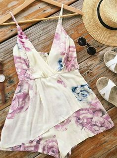 I could do this adorable romper. I also LOVE this print and the colors. VERY me for the summer