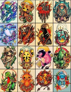 Pokemon Tattoo Designs on Behance Pokemon Go, Pikachu, Pokemon Pins, Cool Pokemon, Pokemon Stuff, Anime Tattoos, Body Art Tattoos, Sleeve Tattoos, Yugioh Tattoo
