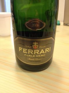 *2006 Ferrari Perle Nero Extra Brut, 12.5% - 100% Pinot Nero Straw yellow with tiny, numerous bubbles. Intense on the nose with lightly baked bread and delicate fruits. Very nice. It's dry, warm (somehow), soft, fresh and tasty. Balanced. Med+ body with baked bread on the palate. BP: Buy