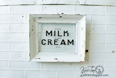 MILK & CREAM Co. Sign  Hand Made Typography Sign available from KnickofTime  ~~~See more Vintage Inspiration at http://knickoftimeinteriors.blogspot.com/   #blogherholidays