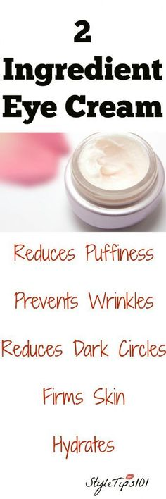 Augencreme mit zwei Bestandteilen Stop wasting your hard earned cash on expensive eye creams when you can easily make your own with just two simple ingredients! This DIY two ingredient eye cream works on all skin types and is best applied at night before Homemade Skin Care, Homemade Beauty Products, Diy Skin Care, Homemade Eye Cream, Homemade Soaps, Homemade Facials, Diy Products, Belleza Diy, Tips Belleza