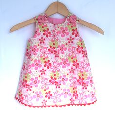 Nearby Floral Candy Baby Girl Dress - Toddler Girls Pattern - Baby Girls Clothing - Handmade Dress - 3 months through 4T. $35.00, via Etsy.