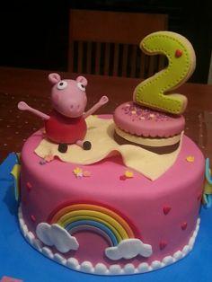 Pepa Pig Cake Cupcake Cookies, Cupcakes, 3rd Birthday Cakes, Peppa Pig, Sweets, Cake Ideas, Desserts, Children, Board