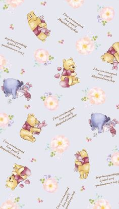 Winne The Pooh, Winnie The Pooh Quotes, Eeyore, Winnie The Pooh Background, Disney Artwork, Bear Party, Baby Shower Decorations For Boys, Disney Posters, Pooh Bear