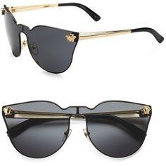 Versace Cateye Shield Sunglasses