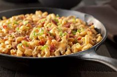 Memphis-Style BBQ Mac & Cheese recipe.  Again, I would replace the boxed mac n cheese dinner with whole wheat elbows and the Ragu cheddar sauce.  i would also use ground turkey instead of ground beef.