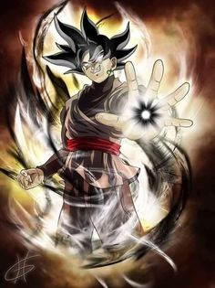 Black Goku.. Epic fan art DBZ
