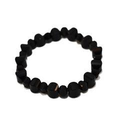 Pulseira em pedra natural cor preta